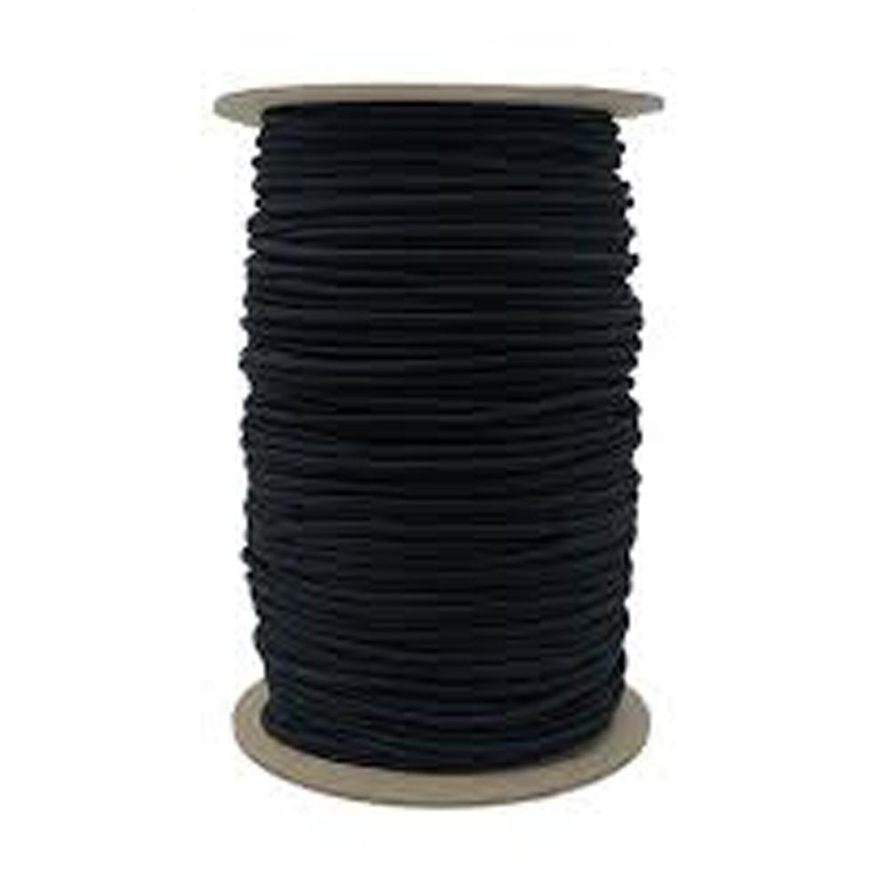 Black Round Elastic - 1/8in x 4yds | Shabby Fabrics