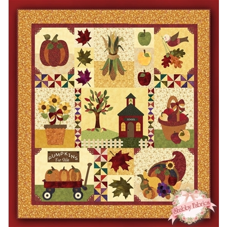 Blessings of Autumn: Original - SAMPLE QUILT  - Traditional Applique