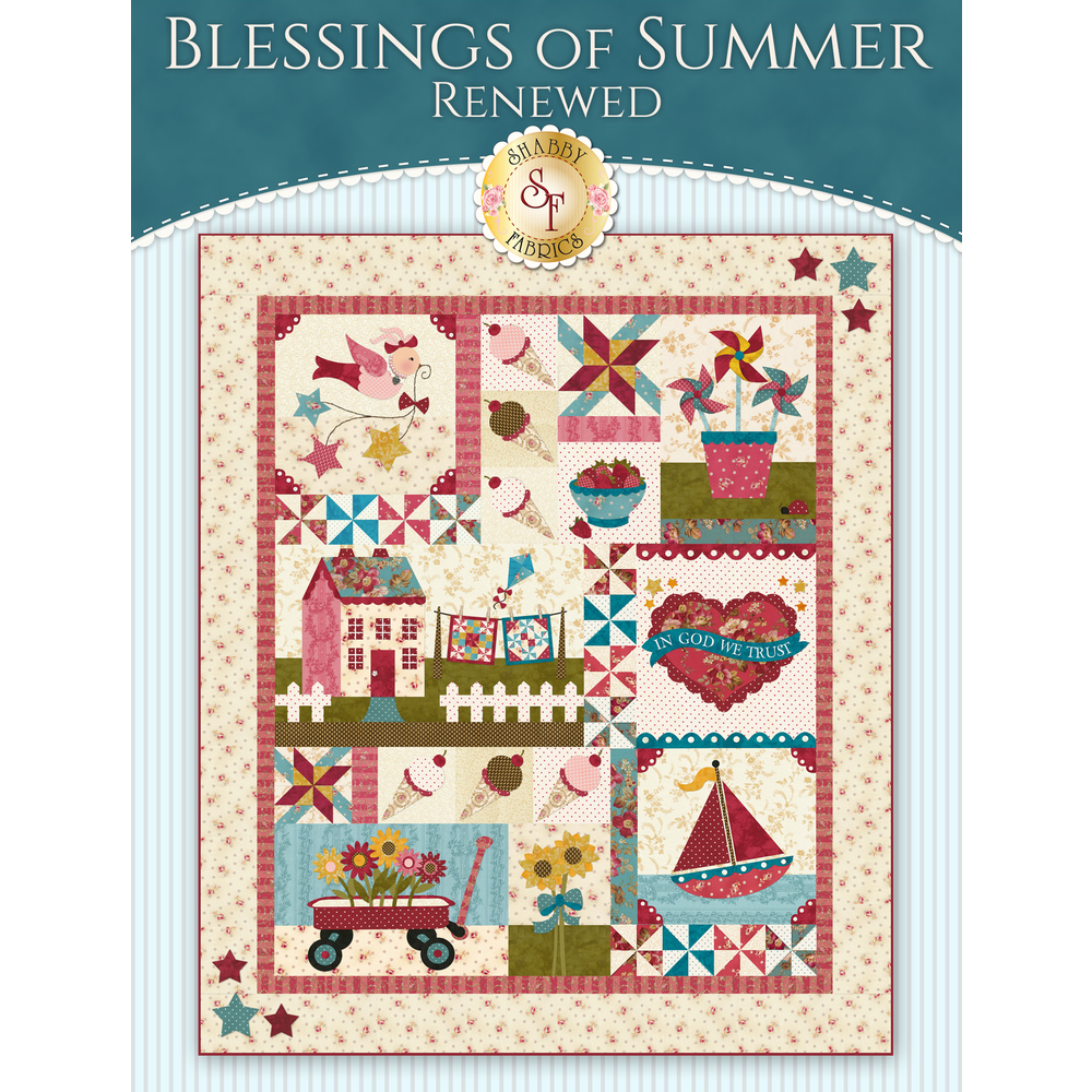 Blessings of Summer: Renewed - SAMPLE QUILT - Traditional Applique