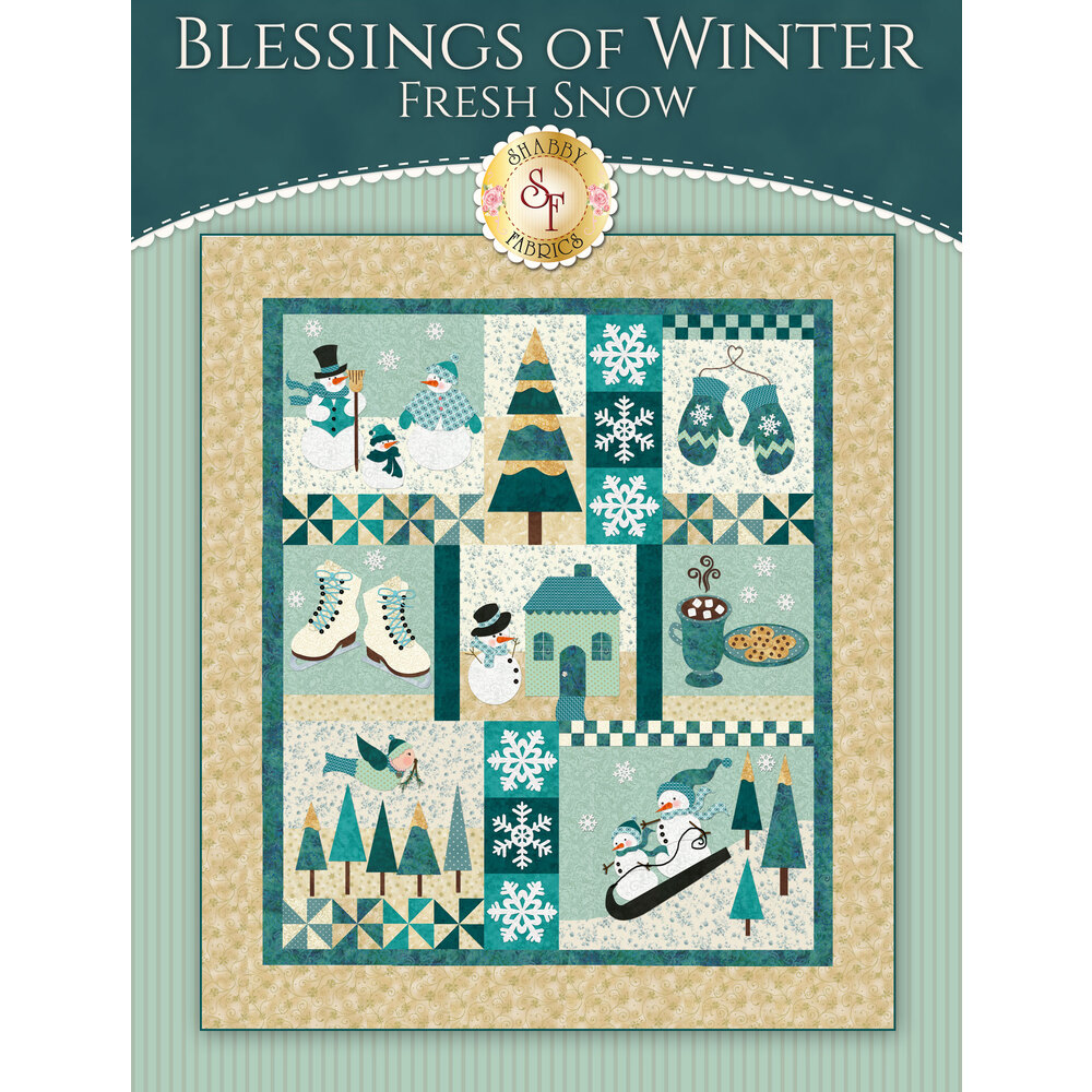 Blessings of Winter: Fresh Snow - SAMPLE QUILT - Traditional Applique