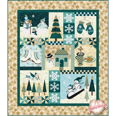 Blessings of Winter: Original SAMPLE QUILT - Traditional Applique
