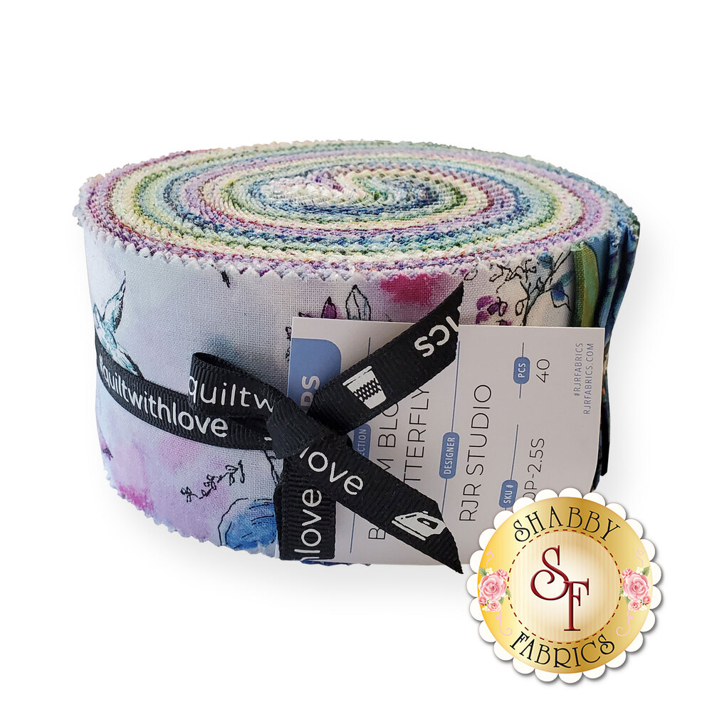 "The Bloom Bloom Butterfly 2 1/2"" Strips by RJR Fabrics 
