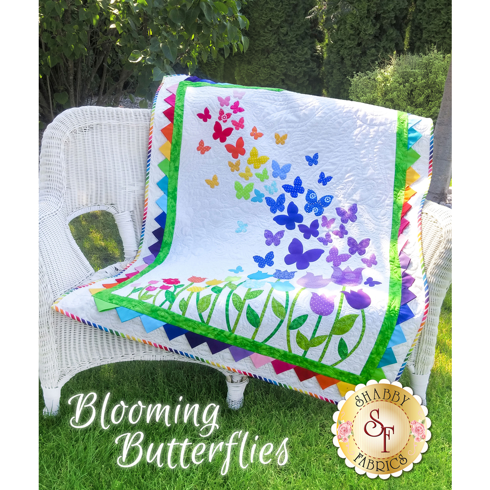 Blooming Butterflies Quilt Kit - Pre-Fused/Laser-Cut