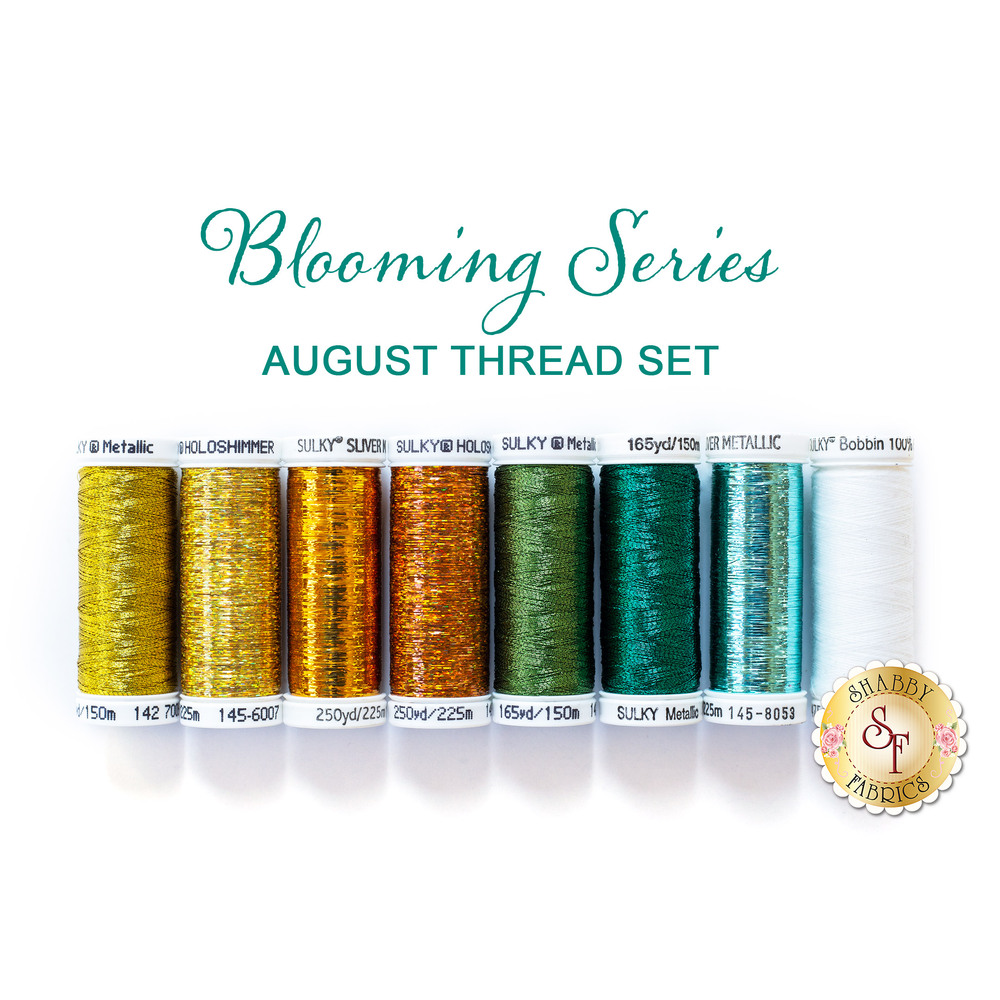 Blooming Series - Sunflowers - August - 8 pc Thread Set
