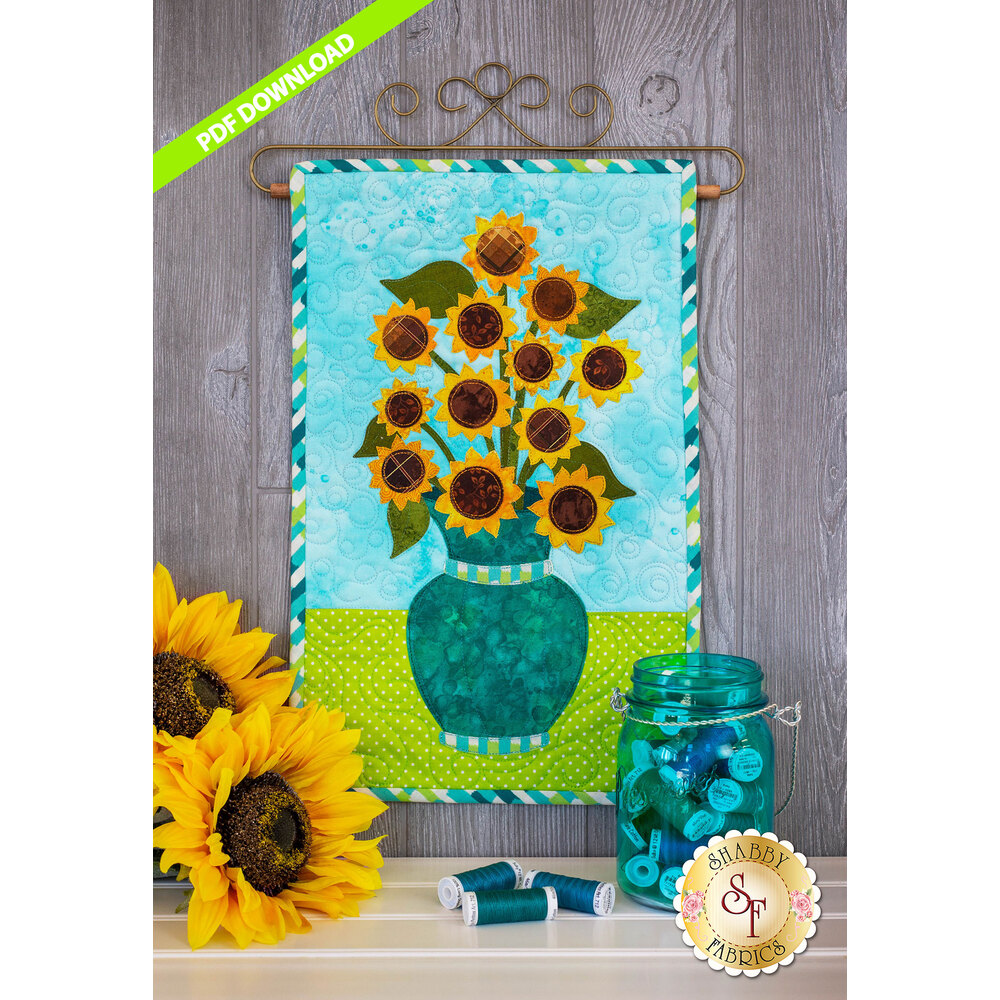 Blooming Series - Sunflowers -  August - PDF Download at Shabby Fabrics