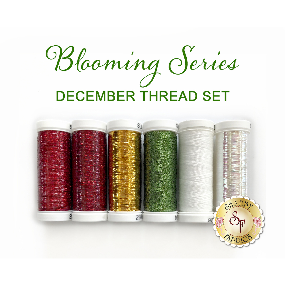 Blooming Series Poinsettias (December) Thread Set - 6pc from Sulky