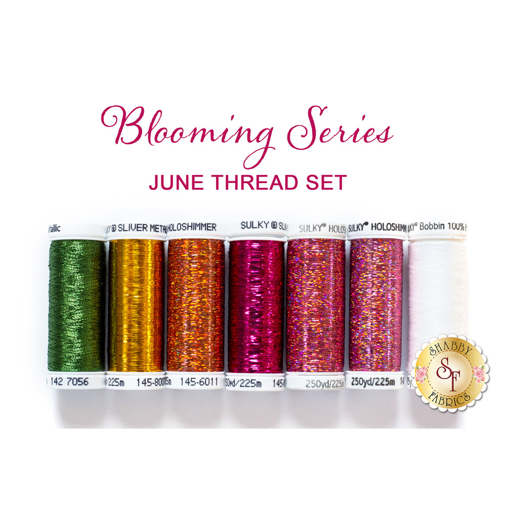 Blooming Series - Daisies - June - 7pc Thread Set