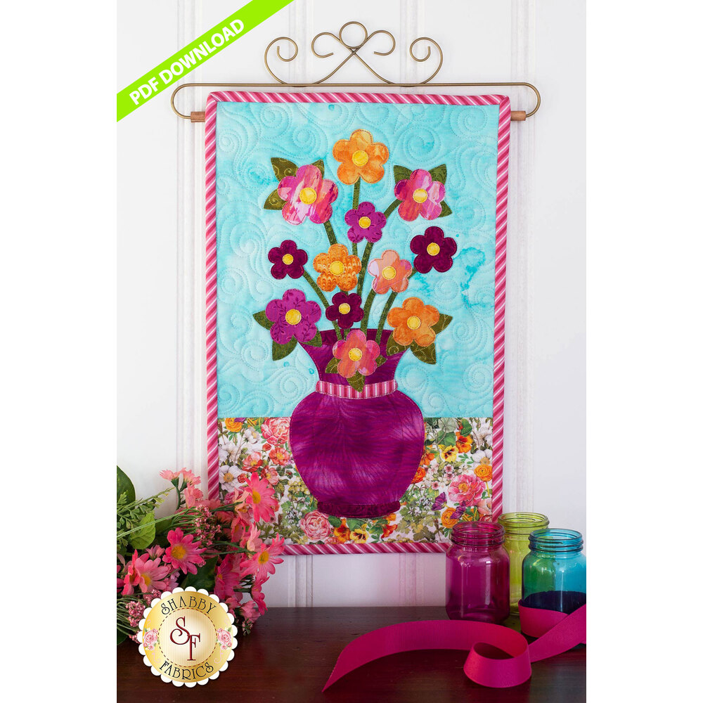 Blooming Series - Daisies -  June - PDF Download at Shabby Fabrics