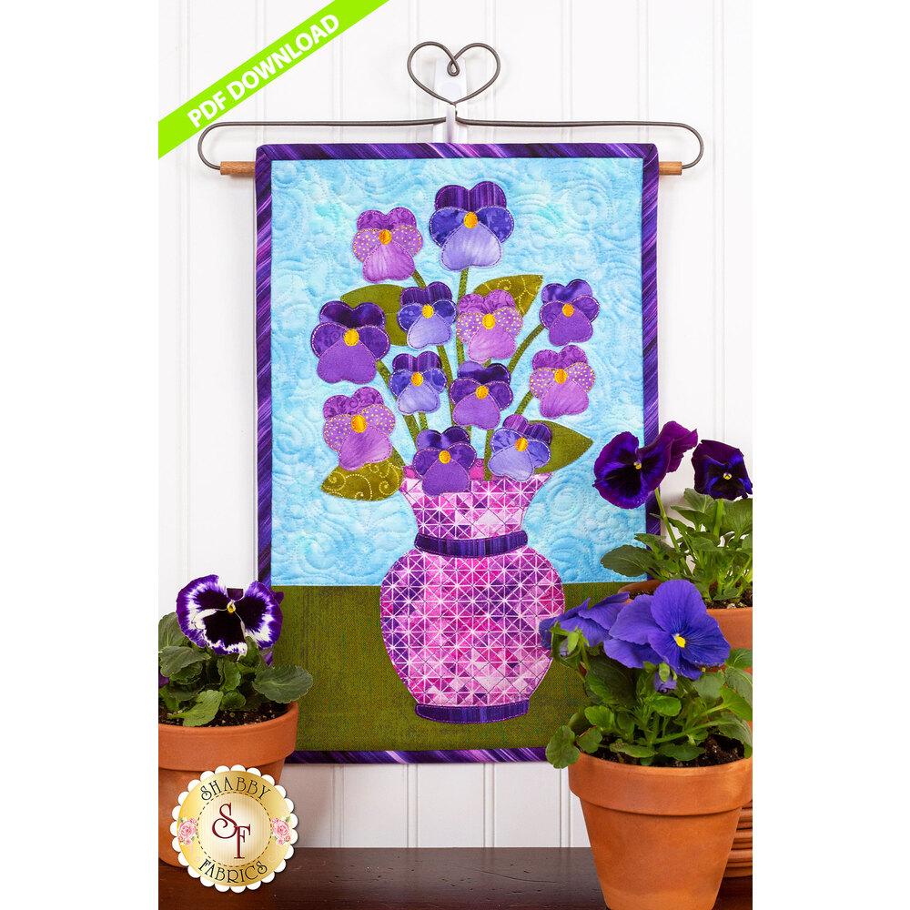 Blooming Series - Pansies -  May- PDF Download at Shabby Fabrics