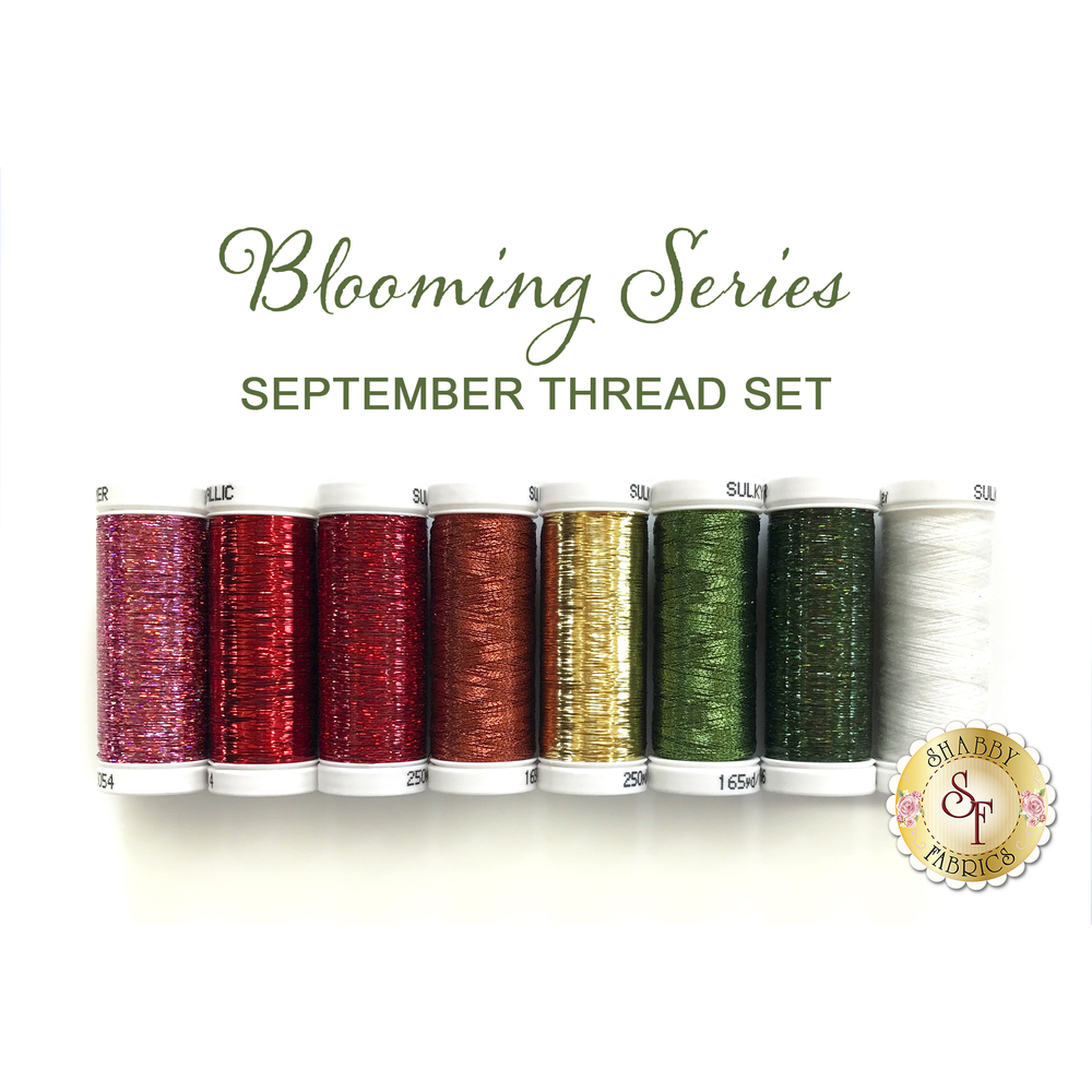 Blooming Series Apples (September) Thread Set - 8 pc from Sulky