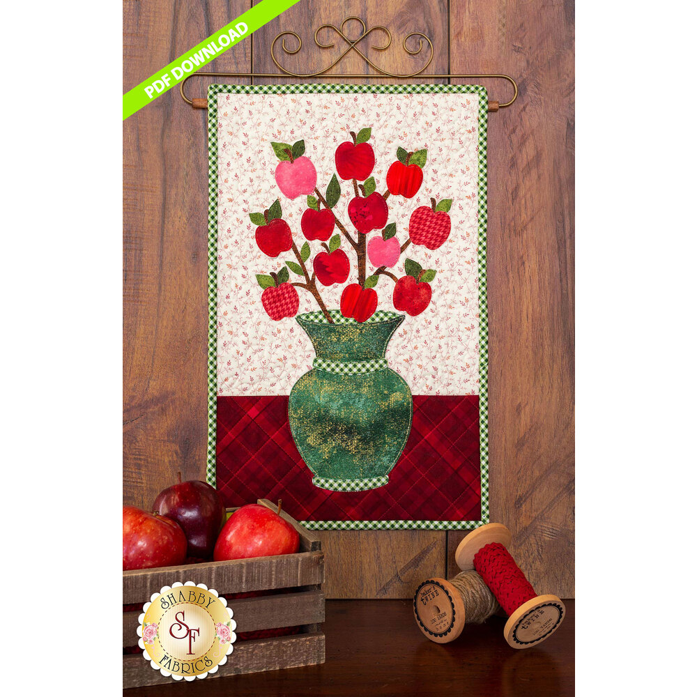 Blooming Series - Apples -  September - PDF Download at Shabby Fabrics