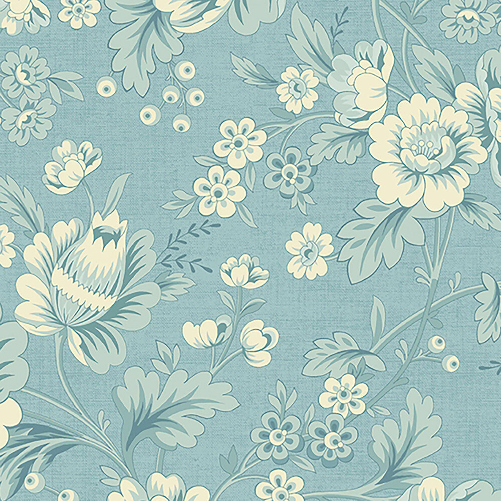 Beautiful flowers and leaves on a light blue background