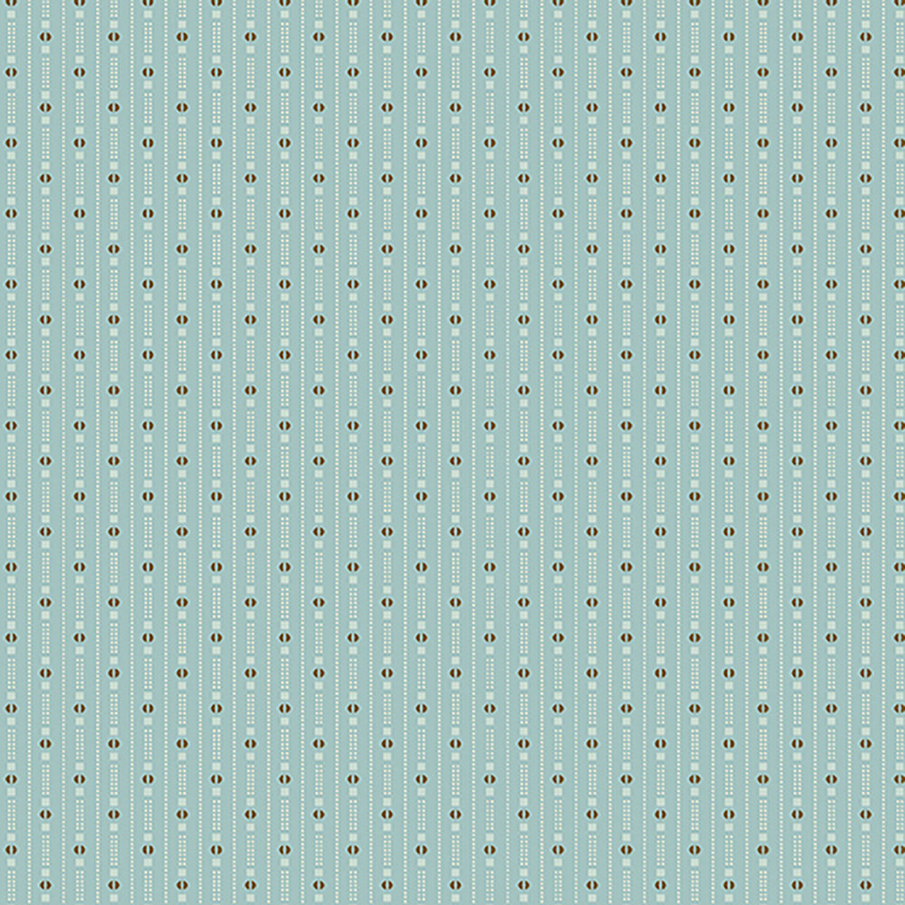 Small dotted stripes and geometric shapes on a light blue background