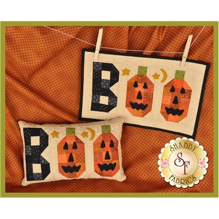 Boo Pillow and Mini Quilt Combo Kit - INCLUDES WOOL!