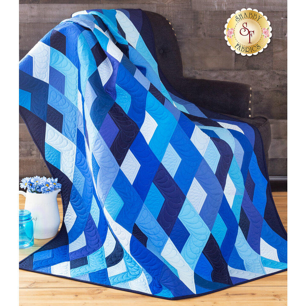 Boomerang Quilt Kit - Blue