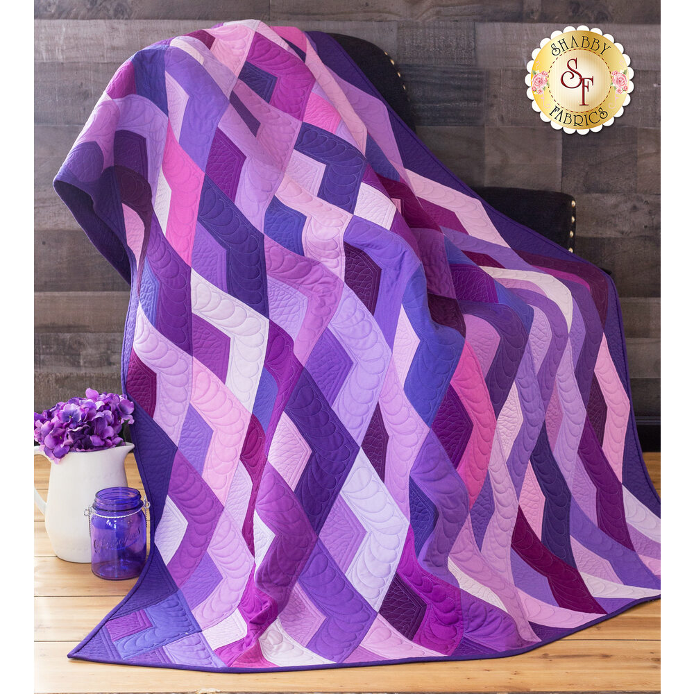 Boomerang Quilt Kit - Purple