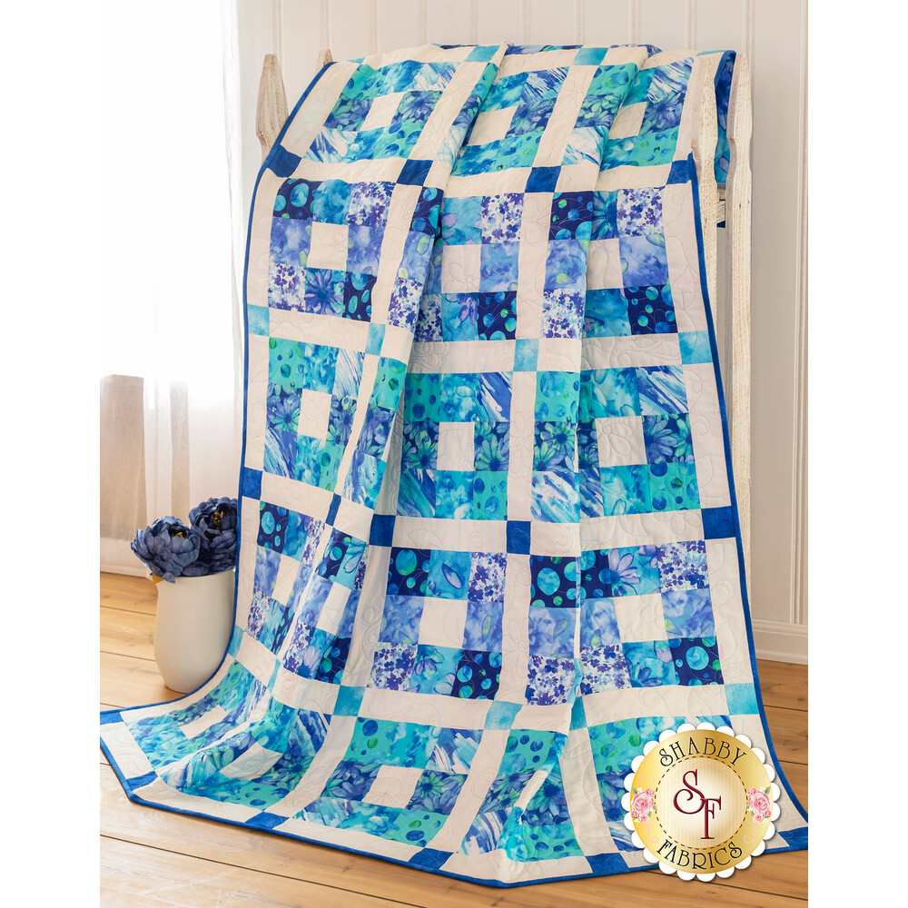 Boxed In Quilt Kit - Blue
