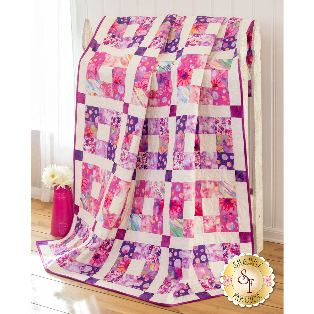 Boxed In Quilt Kit - Pink