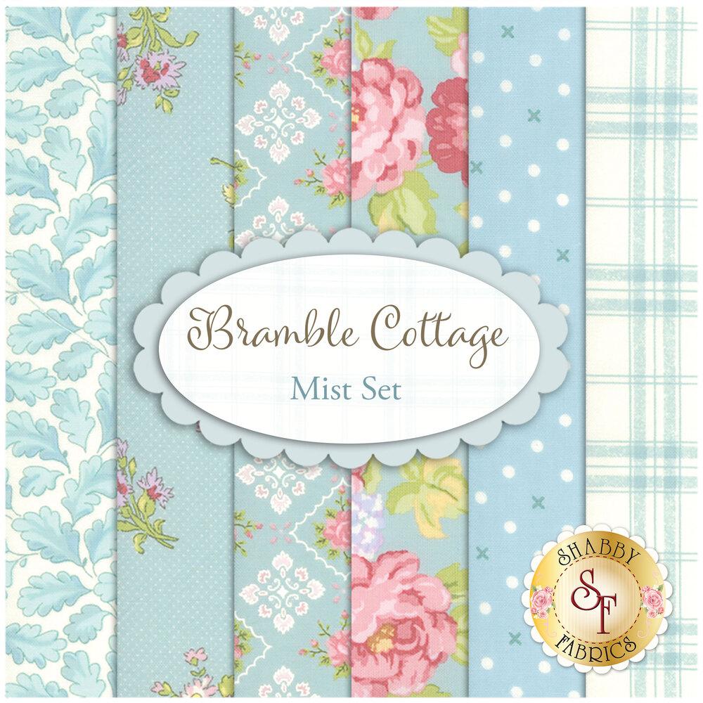 Bramble Cottage Mist FQ Set by Moda Fabrics   Shabby Fabrics