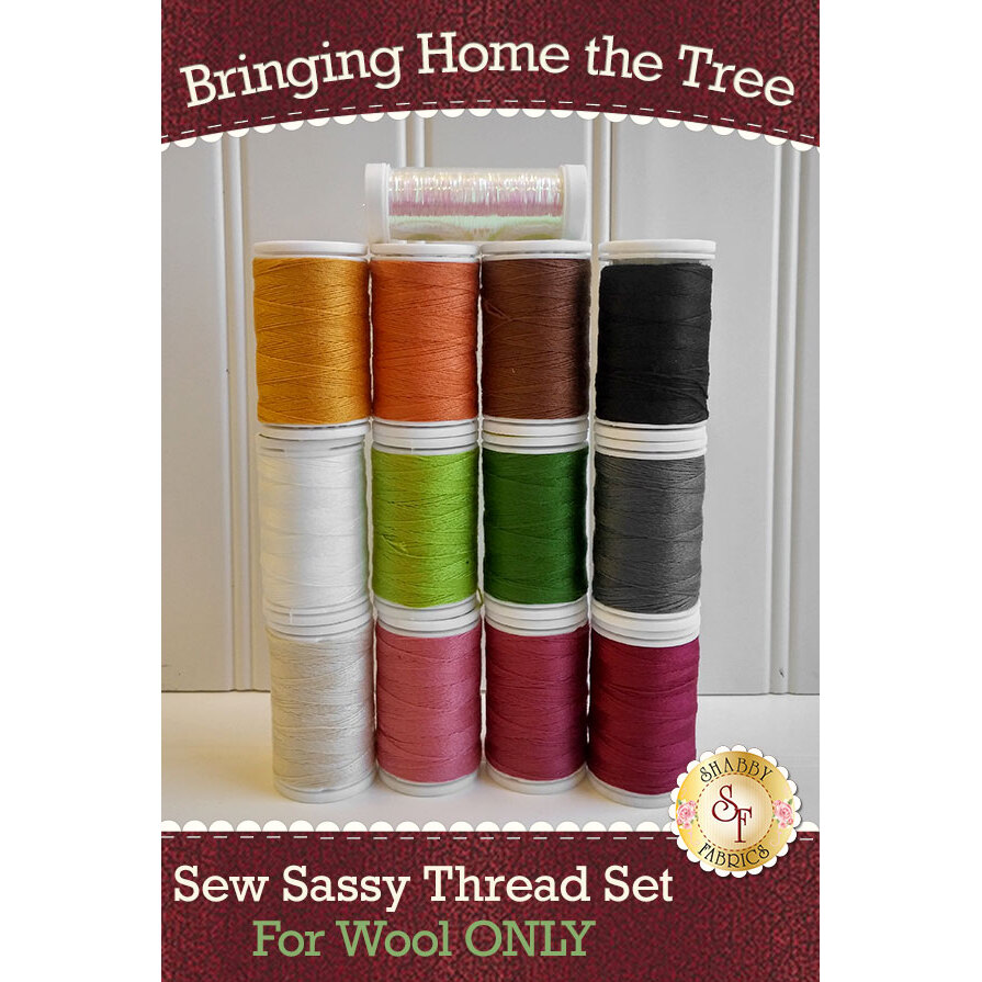 Bringing Home the Tree BOM - Wool - 13pc Thread Set