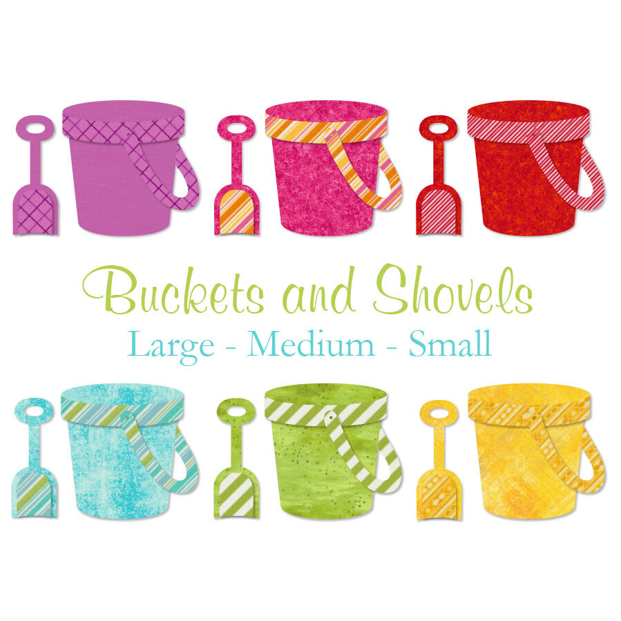 Laser-Cut Buckets & Shovels - 3 Sizes Available!