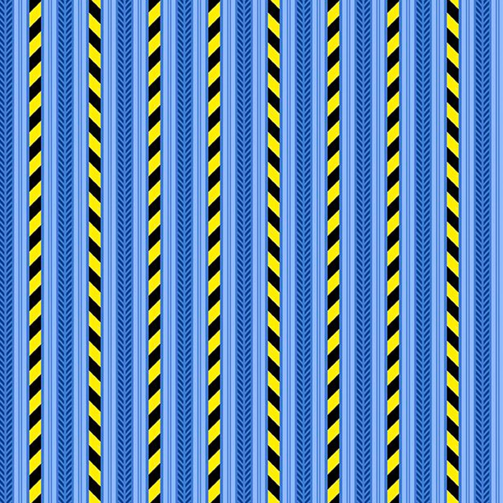 Construction stripes on a blue background