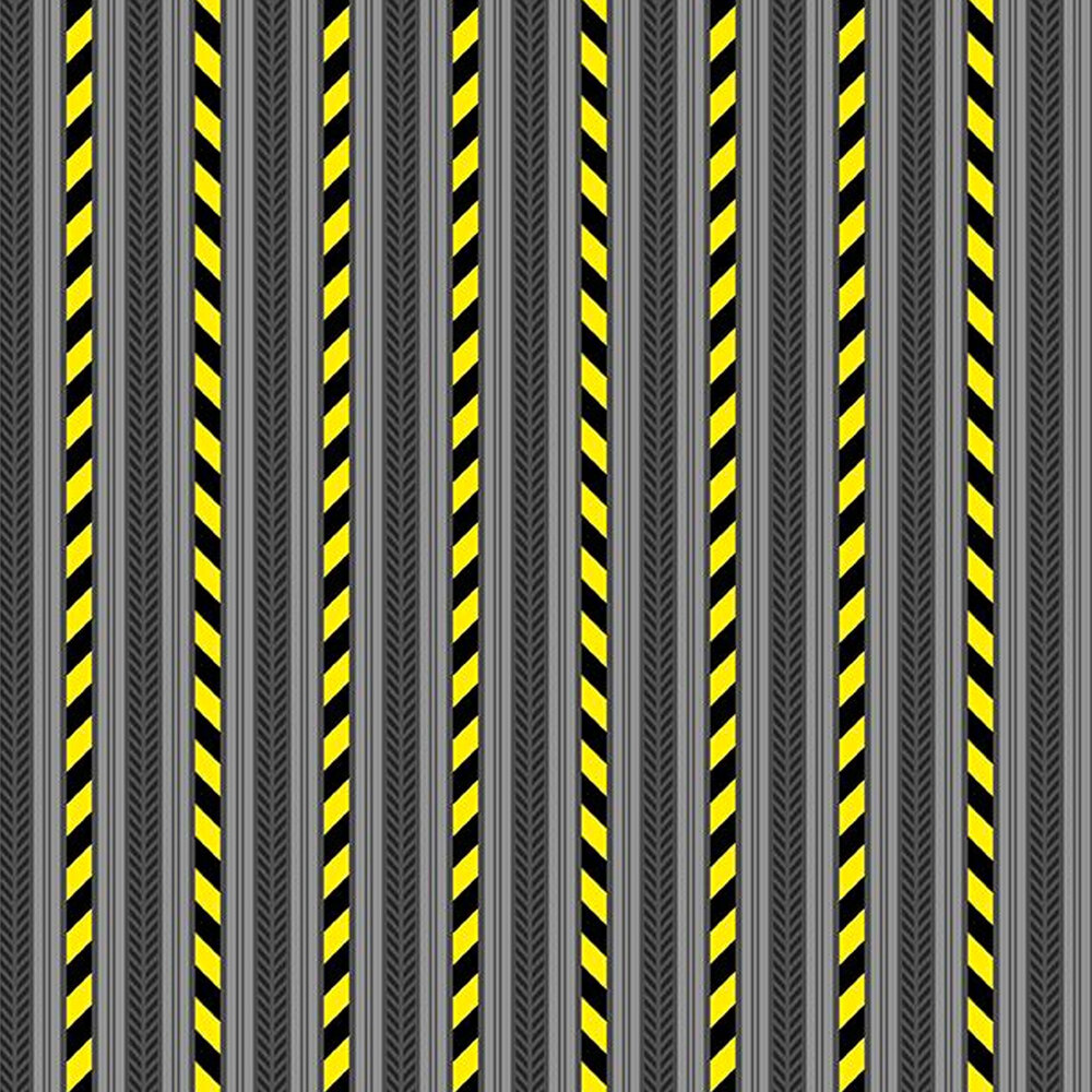 Construction stripes on a gray background
