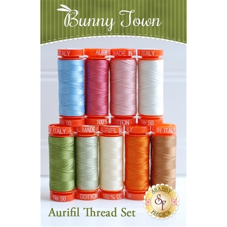 Bunny Town BOM - 9pc Aurifil Thread Set