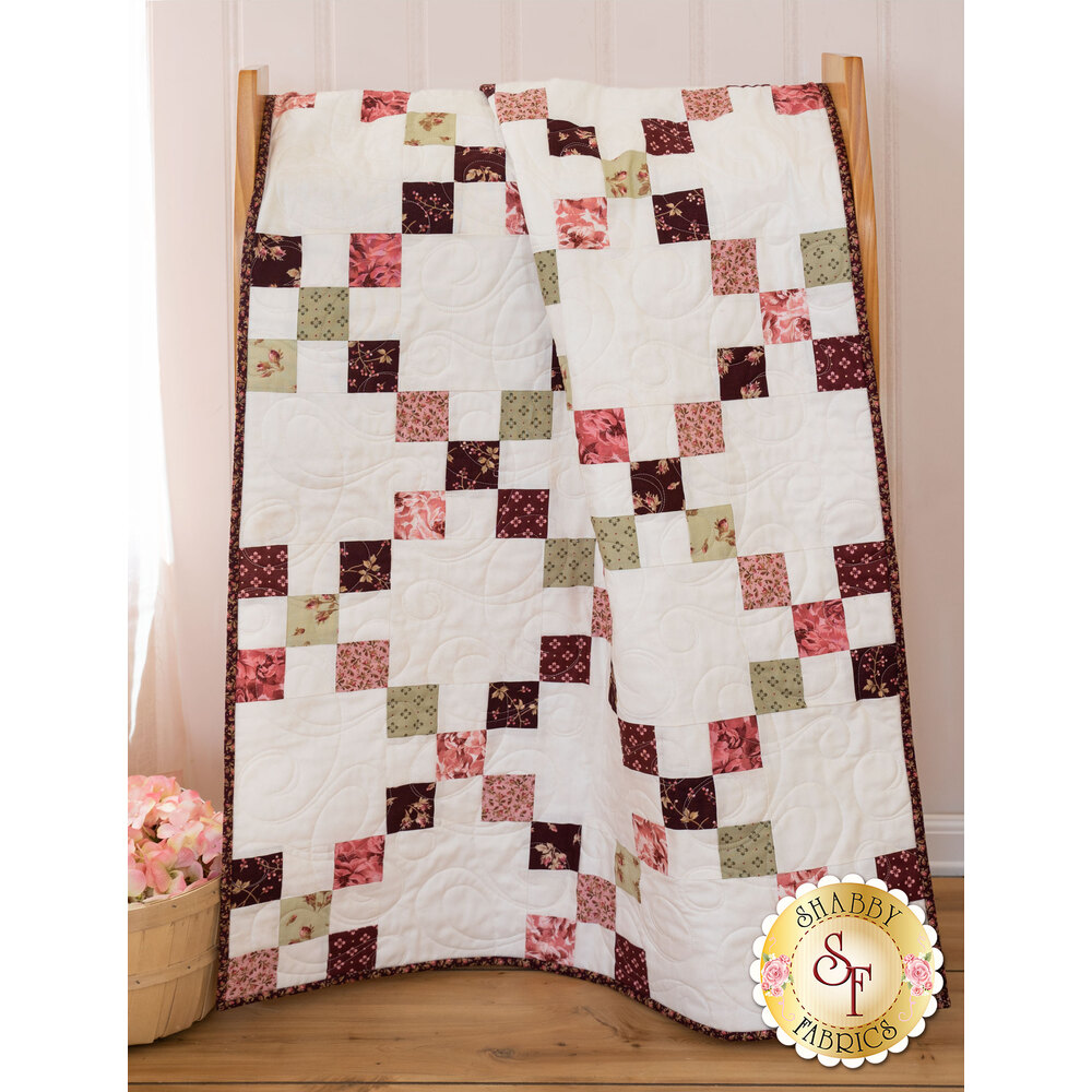 Irish Chain Precut Kit - Burgundy & Blush