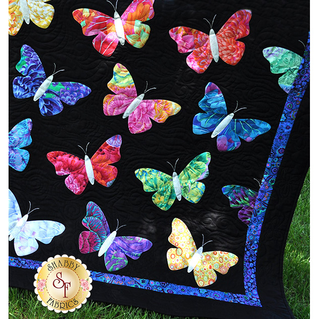 Butterflies Quilt Kit - Pre-Fused & Laser-Cut