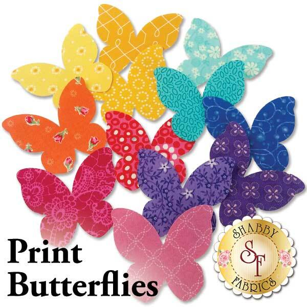 """Butterfly Pincushion Fused Pre-cut Applique Kit 6/"""" x 6/"""""""