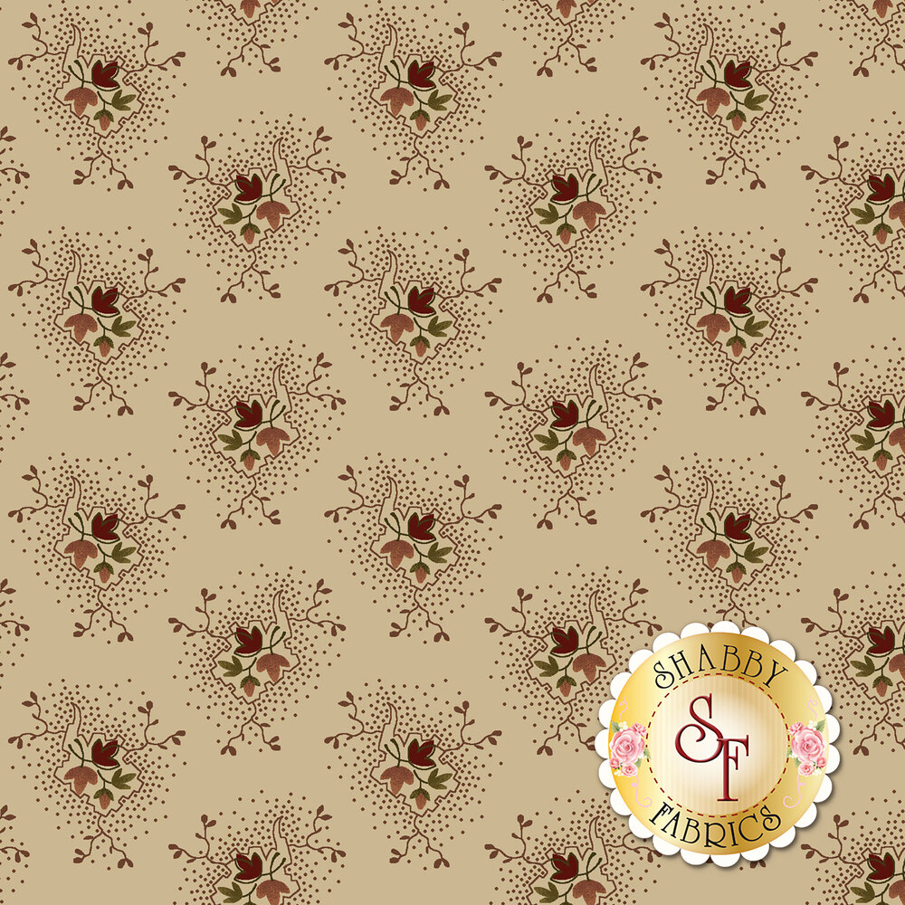 Buttermilk Blossoms 2107-46 for Henry Glass Fabrics