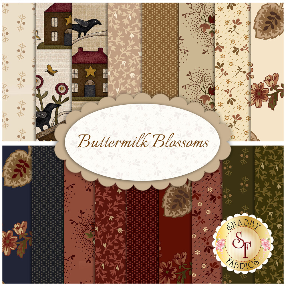 Buttermilk Blossoms  Yardage for Henry Glass Fabrics