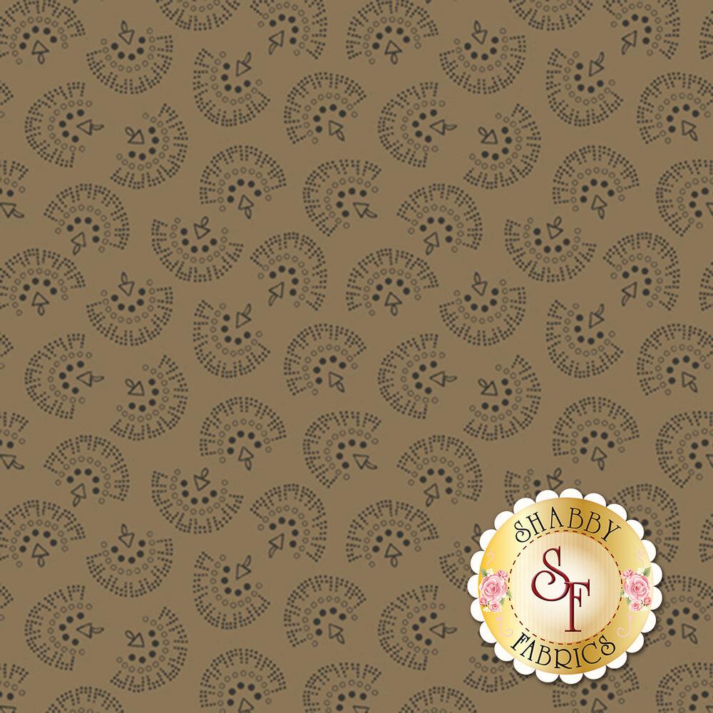 Brown tonal tossed geometric prints | Shabby Fabrics