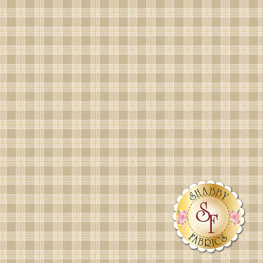 Tan plaid print | Shabby Fabrics