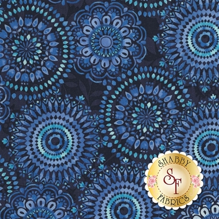 Butterfly Grotto C5687-NAVY by Timeless Treasures Fabrics