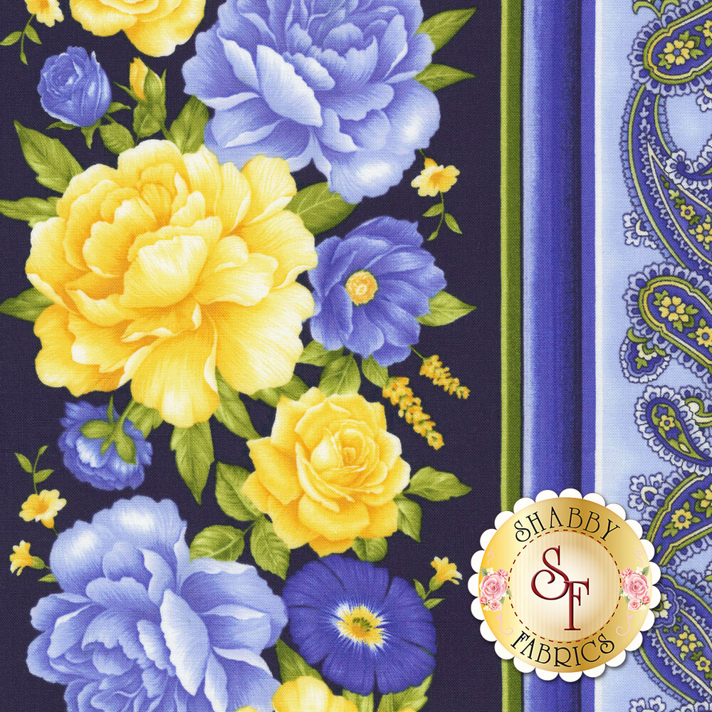 Angelica C6361-Navy by Timeless Treasures Fabrics