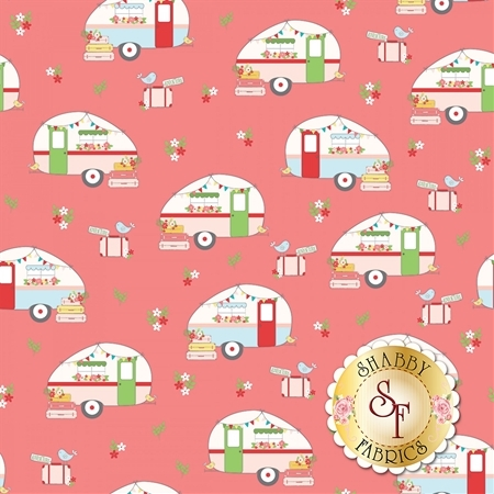 Vintage Adventure C7271-PINK by Riley Blake Designs