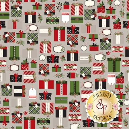 Christmas Delivery C7331-GRAY by Riley Blake Designs