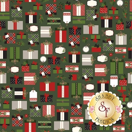 Christmas Delivery C7331-GREEN by Riley Blake Designs