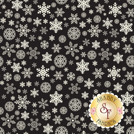 Christmas Delivery C7333-BLACK by Riley Blake Designs
