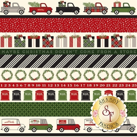 Christmas Delivery C7337-BLACK by Riley Blake Designs