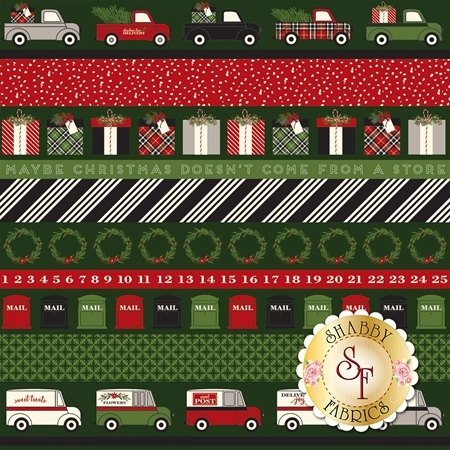Christmas Delivery C7337-GREEN for Riley Blake Designs