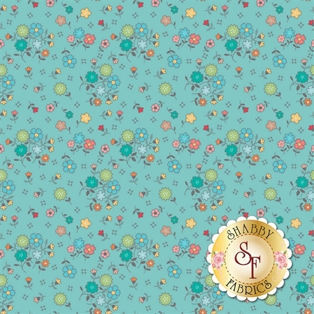 Autumn Love C7360-BLUE by Lori Holt for Riley Blake Designs