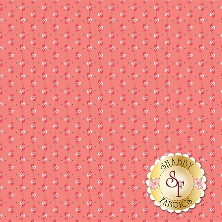 Autumn Love C7363-CORAL by Lori Holt for Riley Blake Designs