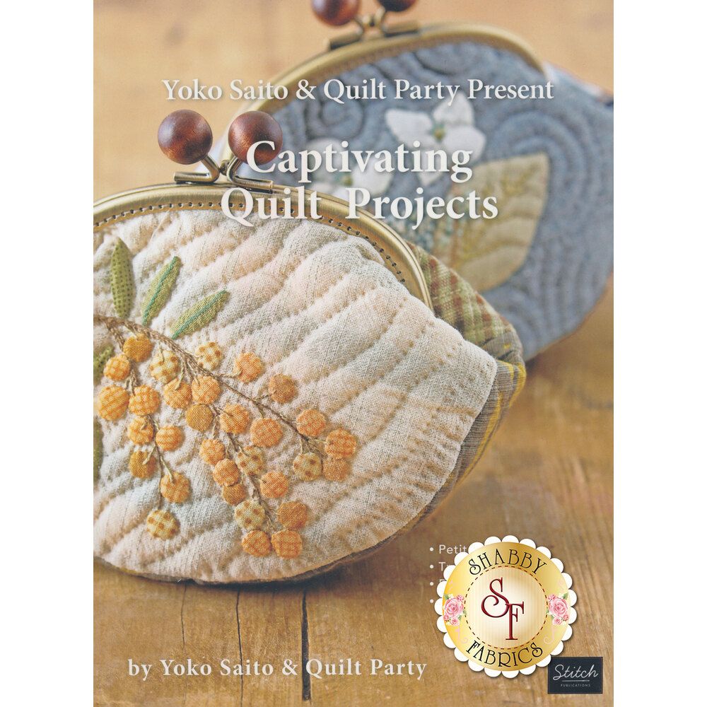 The front of the Captivating Quilt Projects book showing a few of projects included