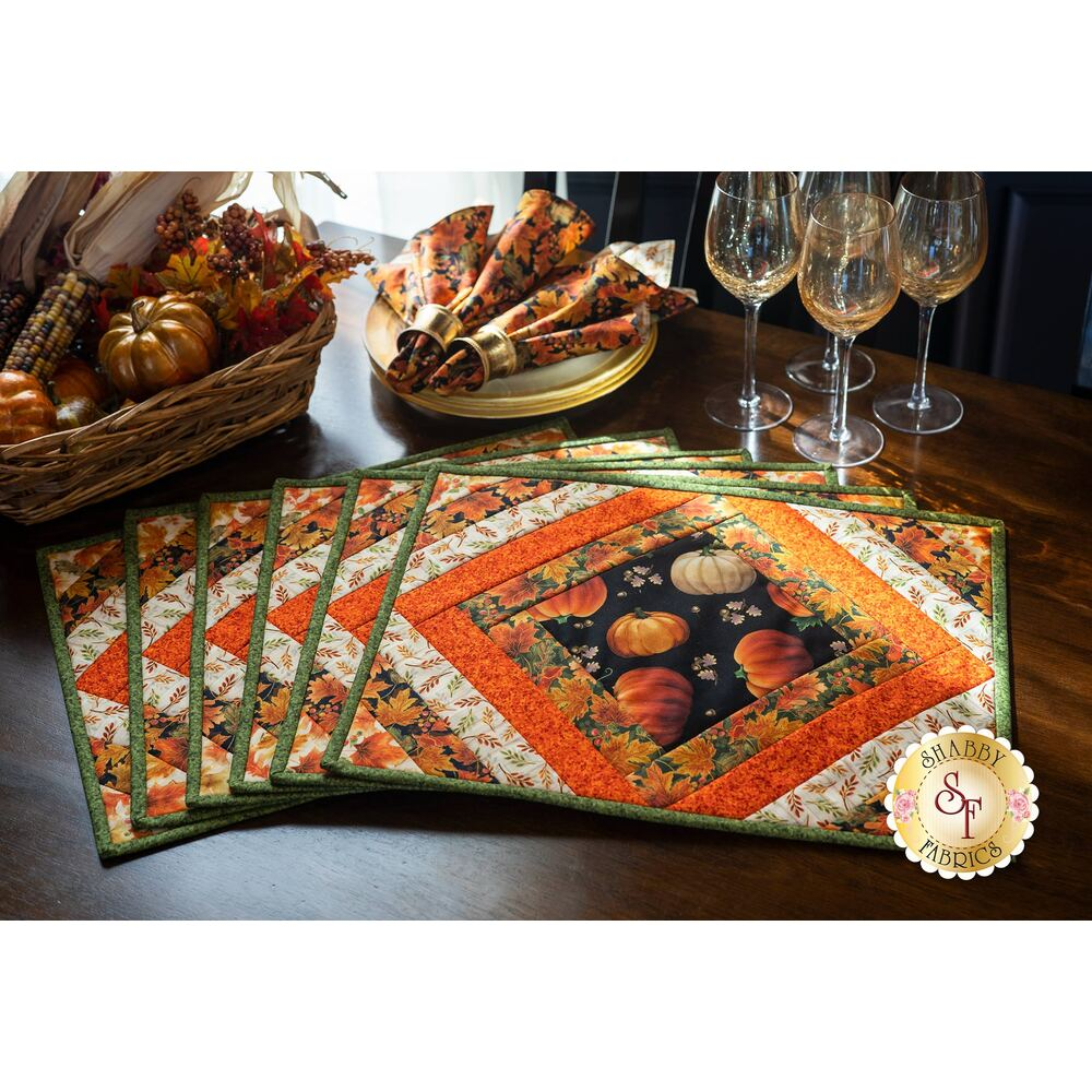 Quilt As You Go Casablanca Placemats Kit - Harvest Elegance - Makes 6