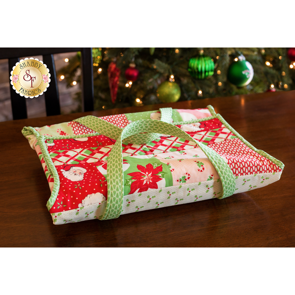 Quilt As You Go Casserole Caddy Kit - Swell Christmas