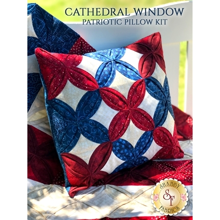 Cathedral Window Patriotic Pillow Kit - Video Demonstration Project