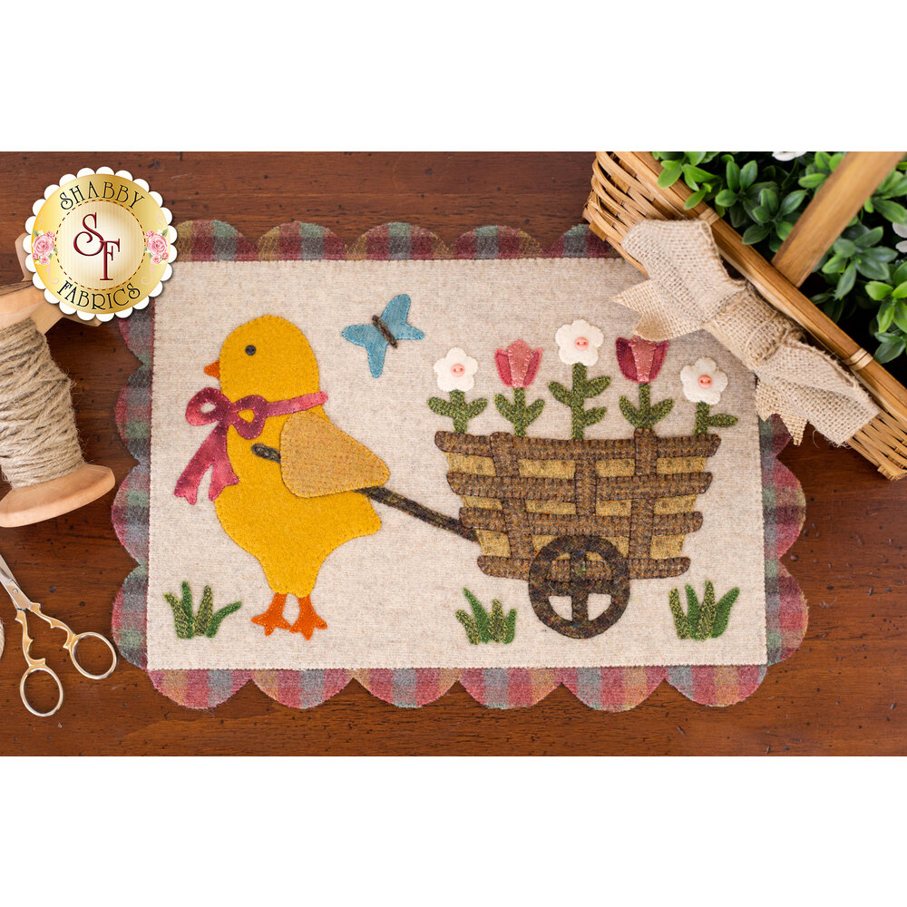 Chick & Pull Cart Table Mat Kit - In Wool